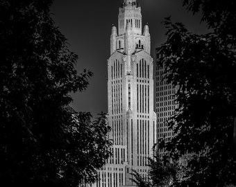 LeVeque Tower Columbus Ohio Black and White