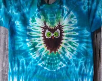 Tie Dye Owl t-shirt- Size XL Youth