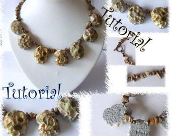Meteorite beads necklace tutorial..