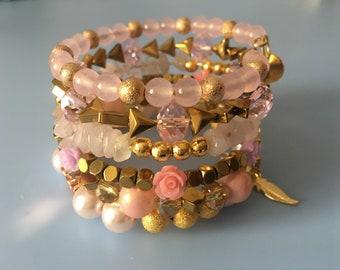 Romantic multi strand bracelet