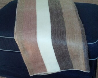Alpaca Throw Blanket - Dark Brown Stripe