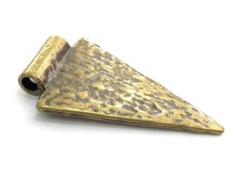 Antique Bronze  Pendant Triangle Pendant  47x27 mm  G13602