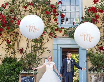 Rose Gold Mr Mrs Ballons, Wedding Photo Props, Wedding Balloons, Engagement Party, Wedding Decor, Bridal Shower, Rose Gold Balloons