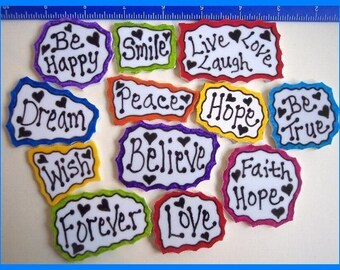 Mosaic Tiles PRETTY WORDS hp handpainted You can CHOOSE your Words Mosaic Tile