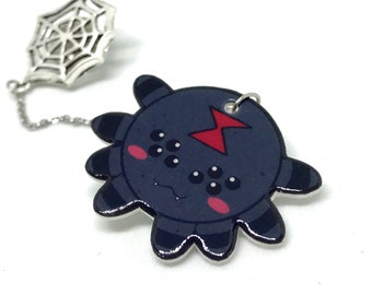 Spider and web lapel pins