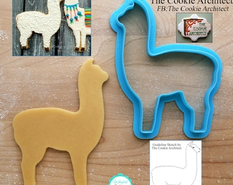 Alpaca Cookie Cutter and Fondant Cutter by The Cookie Architect - **Guideline Sketches to Print Below**