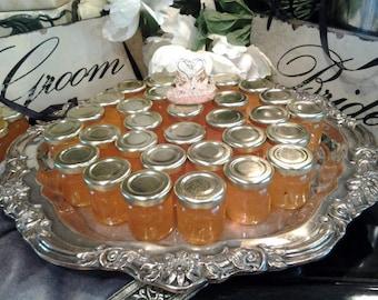 Peach Bourbon  Palooza--50 Mini  *SPREAD the LOVE* *ELEGANT Wedding Favors-  1.5 oz --Peach Peach Peach Style & Elegance--------