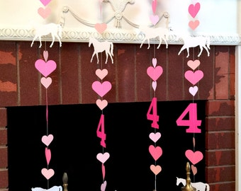 Pony Birthday Garland - Horse Decor - Horse Backdrop - Cowgirl Birthday Party Decorations - saddle up birthday - your color choices