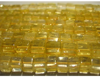 Citrine, Yellow Citrine, Citrine Beads, Box Beads, 5mm Bead, 16 Inch Full Strand