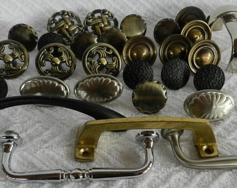 34 Drawer Pulls- Found Objects- Junk Drawer