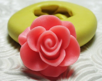 SAKURA ROSE FLOWER Flexible Silicone Rubber Push Mold for Resin Wax Fondant Clay Ice 6031