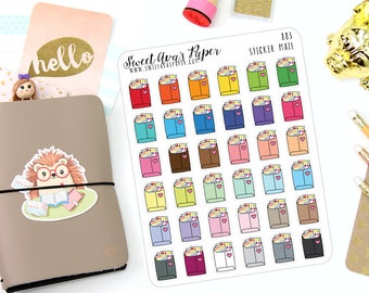 Mail heureux Planner Stickers - Mail d'autocollant Stickers Autocollants - Sticker commande - paquet - Happy Mail autocollants - Planner Stickers - 883