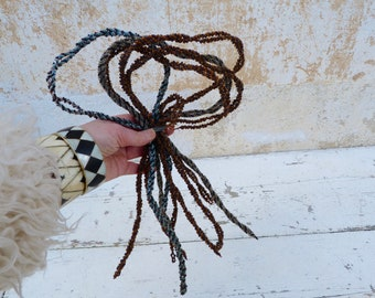 Antique beaded  yarns Vintage French canetille beadwork cable  3 colors