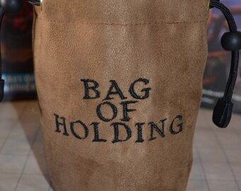 Dice Bag bag of holding Embroidered Suede
