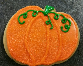 Traditional Halloween Hand Decorated Sugar Cookies