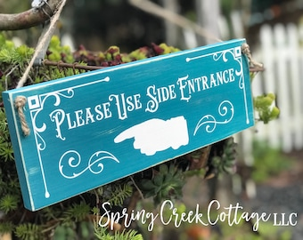 Signs, Office Entrance This Way, Office Decor, Door Decor, Wood Signs, Handpainted, Typography, Rustic, Vintage, Office, Made To Order!