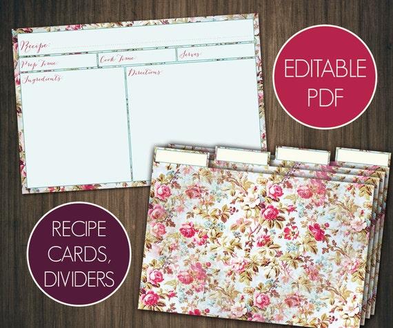 printable recipe cards 4x6