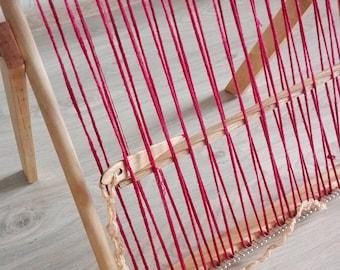 Knitting loom,Weaving tapestry,frame loom,Weaving Loom, loom board, Lap Loom, Wooden Loom, Weaving Tools, Weaving Loom Kit