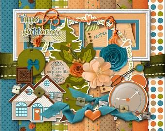 Colors of Home Digital Scrapbook Kit