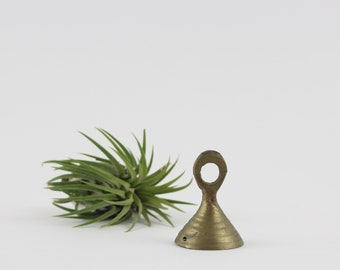 Vintage Brass Bell of India - Brass Prayer Bell with Small Handle - Meditation Bell of Mindfulness