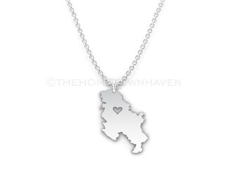 Serbia Necklace - Serbia love necklace, Serbia charm necklace, I heart Serbia necklace