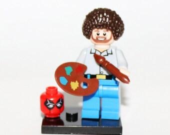 Bob Ross Minifigure Bob Minifigure Bob Painter Custom Minifigure Art Deadpool Minifigure Dead Pool