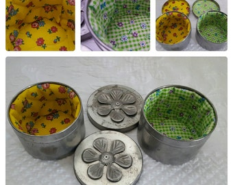Vintage Sewing Canister