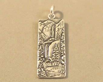 Sterling Silver YOSEMITE FALLS Charm Pendant National Park California Waterfall .925 Sterling Silver New np21
