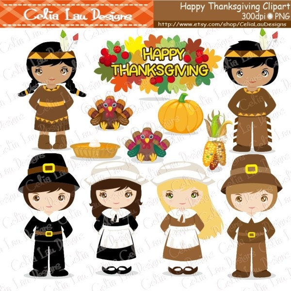 thanksgiving clipart turkey clipart pilgrim clipart indian rh etsy com thanksgiving indian clipart pilgrim and indian clipart black and white