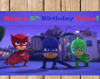 PJ Masks Birthday Vinyl Banner