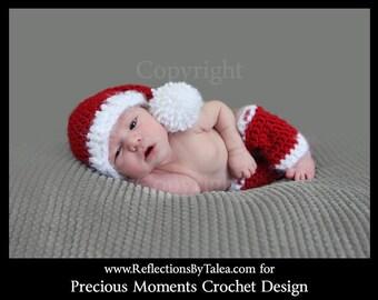 Newborn Christmas Photo Prop, Santa Elf Hat and Legwarmers, Newborn Santa Hat and Legwarmers Set, Newborn Christmas Hat  PHOTO PROP