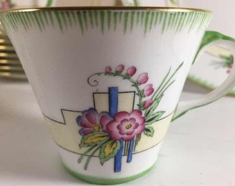 Aynsey Fine Bone China from 1930 's Art Deco Luncheon Set