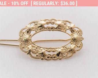 Bridal Hair Pin, Bridal Accessory, Gold Hair Pin, Wedding Headpiece, Bridal Headpiece, Bridal Vintage Hair Pin, Bridal Gold Hair Pin