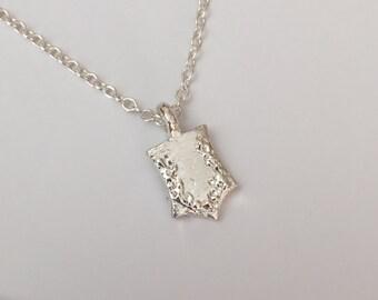Flower Shield Necklace