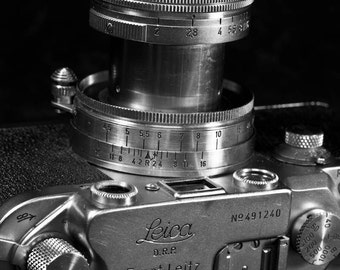 Vintage Leica Camera, Fine Art Black and White Photography