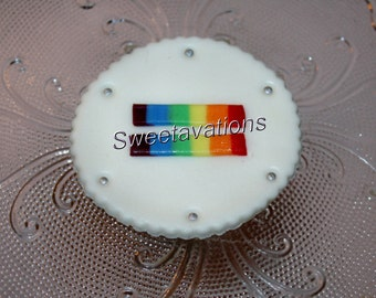 Fondant Gay Wedding Cupcake Topper, Equality (Qty 12) – Lesbian Wedding Cupcake Topper - Gay Engagement - Lesbian Engagement - LGBT - Pride