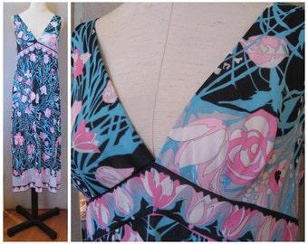 Vintage 60s Emilio Pucci for Formfit Rogers nightgown, EPFR nightgown, vintage 60s nightgown, 60s mod nightgown, Pucci nightgown