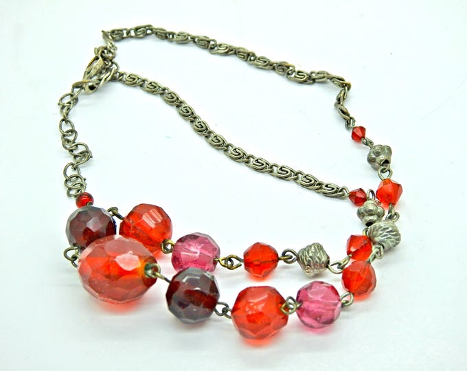 Tomato red necklace for women