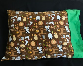 Travel Size Pillowcase: Farm Animals