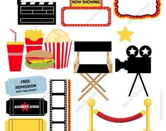 film clipart etsy rh etsy com movie theatre clipart images movie theater clipart black and white