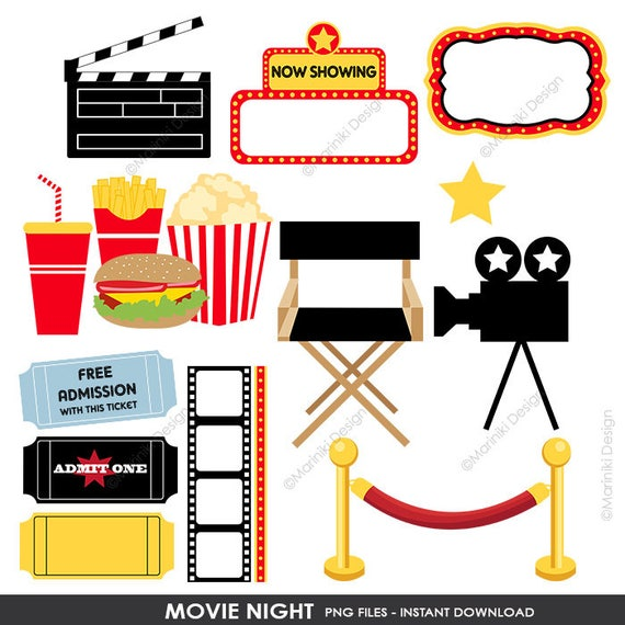 movie night clipart cinema clip art film theatre award graphics rh etsystudio com movie theater clipart black and white movie theatre clip art free
