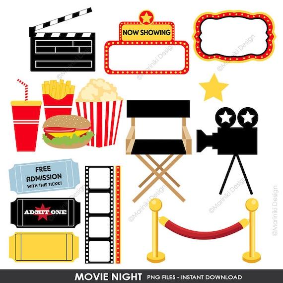 movie night clipart cinema clip art film theatre award graphics rh etsystudio com movie theatre clipart free movie theatre clipart free