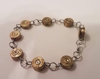 Brass Or Silver 45 Primer Cap Bracelet / Optional Charm Handmade Jewelry