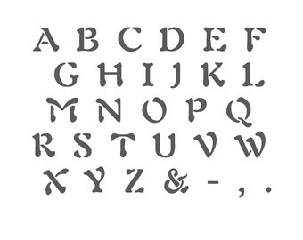 Alphabet Stencil Reusable Template for Wall Art Crafting and