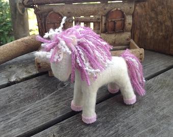 Pink and Creme Unicorn