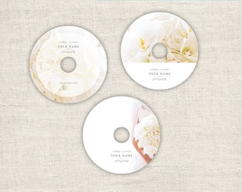 Photography DVD Templates - Templates for Wedding Photographers - 3 Designs Cd Photoshop Templates - INSTANT DOWNLOAD