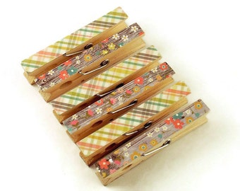 Decorative Clothespins Altered Clothespins Magnetic Clothespins in Vintage Bliss