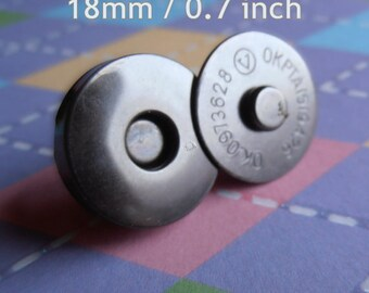 18mm / 0.7 inch regular magnetic snaps (4mm thick) - gun metal, nickel, and antique brass - choose from 230, 600, and 1500 sets