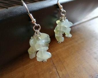 New Jade crystal earrings
