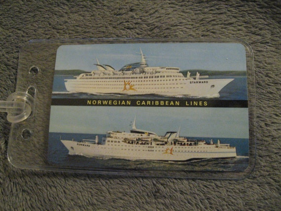 NCL Luggage Tags Norwegian Caribbean Lines Sunward Starward - Starward cruise ship